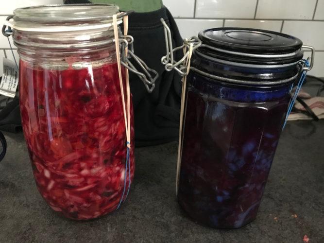 New batches of fermented veggies